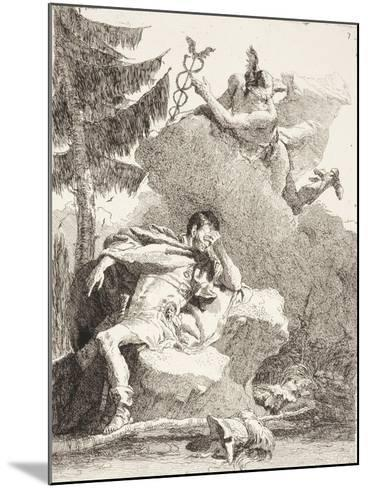 Mercury Appears to Æneas in a Dream, C.1770-Giandomenico Tiepolo-Mounted Giclee Print