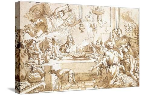 The Last Supper-Giandomenico Tiepolo-Stretched Canvas Print