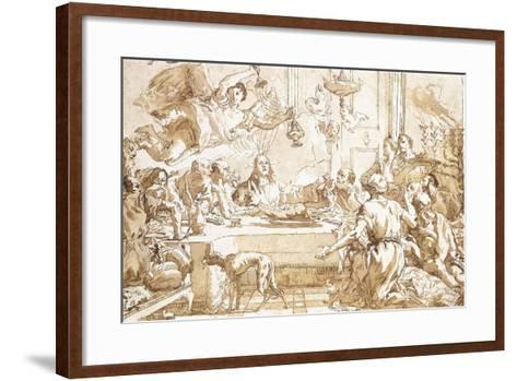 The Last Supper-Giandomenico Tiepolo-Framed Art Print