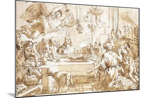 The Last Supper-Giandomenico Tiepolo-Mounted Giclee Print
