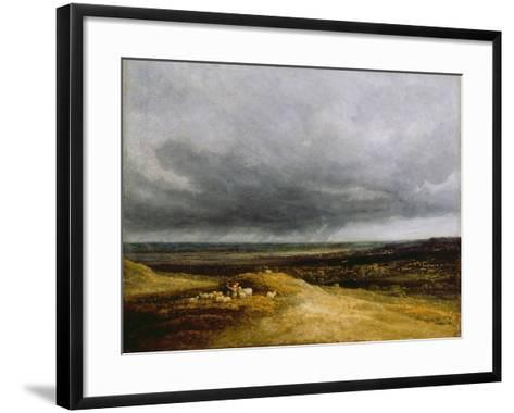 Approaching Storm, C.1820-25-Georges Michel-Framed Art Print