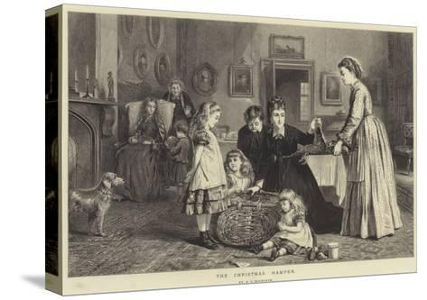 The Christmas Hamper-George Goodwin Kilburne-Stretched Canvas Print