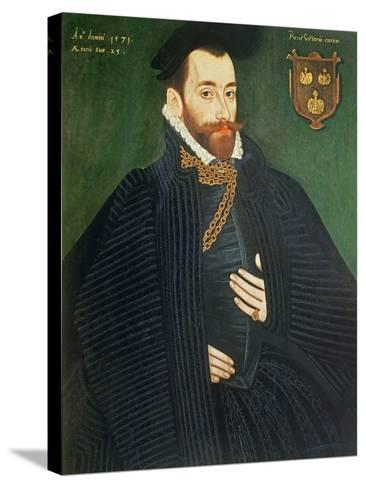 Portrait of a Gentleman, Traditionally Called a Member of the Dacre Family, 1571-George Gower-Stretched Canvas Print