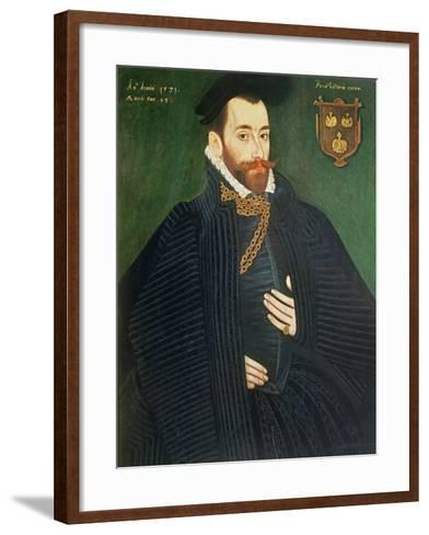Portrait of a Gentleman, Traditionally Called a Member of the Dacre Family, 1571-George Gower-Framed Art Print