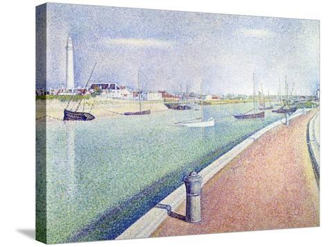 The Channel of Gravelines, Petit Fort Philippe, 1890-Georges Seurat-Stretched Canvas Print