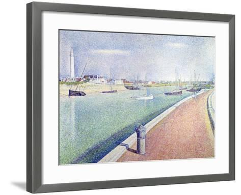 The Channel of Gravelines, Petit Fort Philippe, 1890-Georges Seurat-Framed Art Print