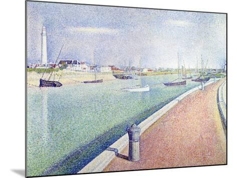 The Channel of Gravelines, Petit Fort Philippe, 1890-Georges Seurat-Mounted Giclee Print
