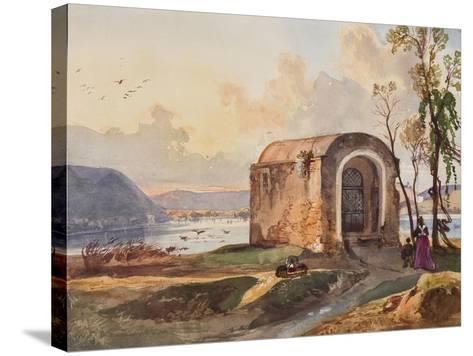 Chapel by Lake Lucrino-Giacinto Gigante-Stretched Canvas Print