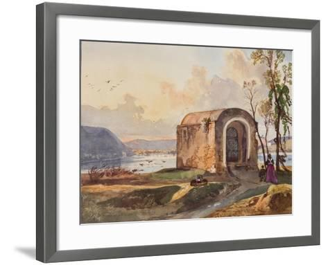 Chapel by Lake Lucrino-Giacinto Gigante-Framed Art Print