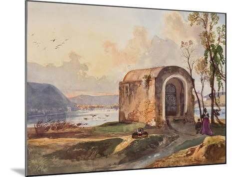 Chapel by Lake Lucrino-Giacinto Gigante-Mounted Giclee Print