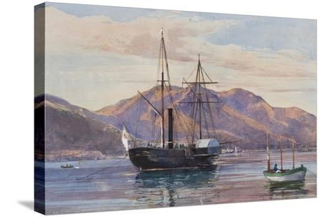 Gaeta: a Steam Frigate-Giacinto Gigante-Stretched Canvas Print