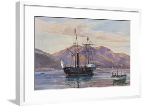 Gaeta: a Steam Frigate-Giacinto Gigante-Framed Art Print