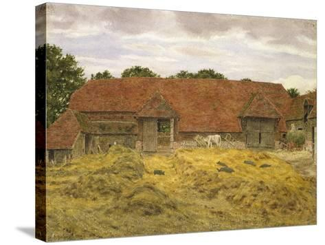 Red Barn at Whitchurch, 1868-George Price Boyce-Stretched Canvas Print