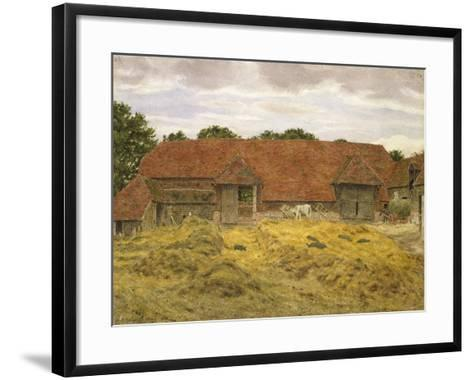 Red Barn at Whitchurch, 1868-George Price Boyce-Framed Art Print