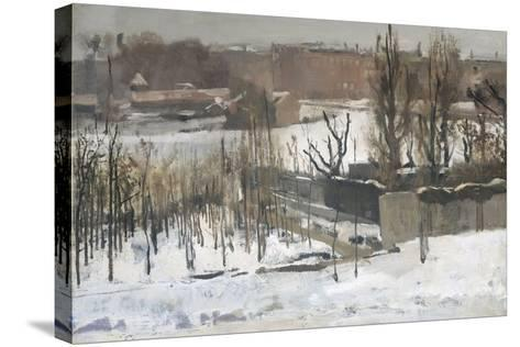View of the Oosterpark in Amsterdam in the Snow, 1892-Georg-Hendrik Breitner-Stretched Canvas Print