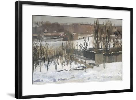 View of the Oosterpark in Amsterdam in the Snow, 1892-Georg-Hendrik Breitner-Framed Art Print