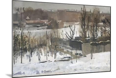 View of the Oosterpark in Amsterdam in the Snow, 1892-Georg-Hendrik Breitner-Mounted Giclee Print