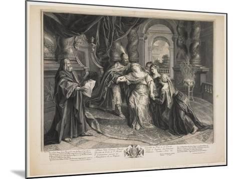 Esther before Ahasuerus, C.1705-Gérard Audran-Mounted Giclee Print