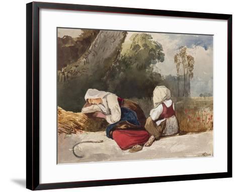 Gleaners Resting-Giacinto Gigante-Framed Art Print