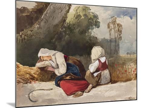 Gleaners Resting-Giacinto Gigante-Mounted Giclee Print