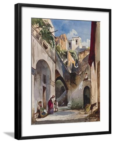 Houses on the Costiera of the Sorrentine Peninsula-Giacinto Gigante-Framed Art Print
