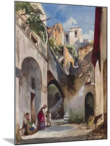 Houses on the Costiera of the Sorrentine Peninsula-Giacinto Gigante-Mounted Giclee Print