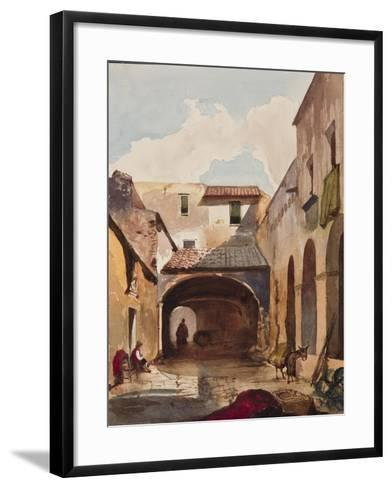 Passage and Street with Figures-Giacinto Gigante-Framed Art Print