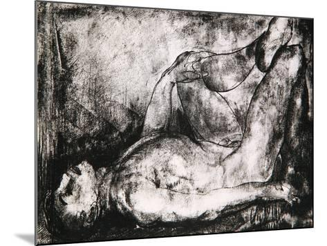 Man on His Back, Nude, C.1916-George Wesley Bellows-Mounted Giclee Print