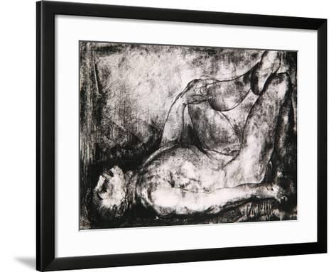 Man on His Back, Nude, C.1916-George Wesley Bellows-Framed Art Print