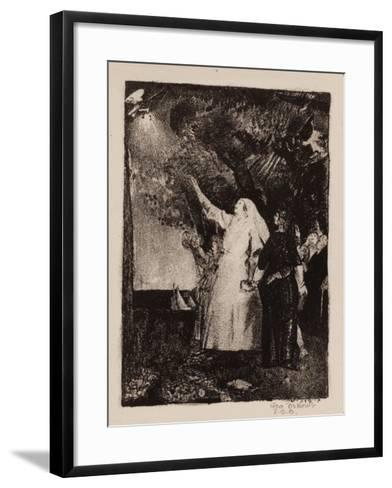 Hail to Peace, Christmas 1918-George Wesley Bellows-Framed Art Print