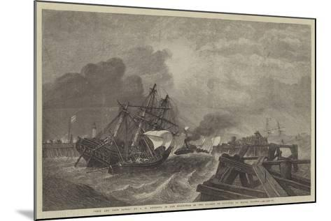 Ship and Crew Saved, in the Exhibition of the Society of Painters in Water Colours-George Henry Andrews-Mounted Giclee Print