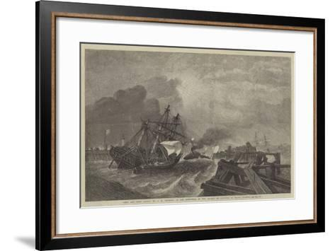 Ship and Crew Saved, in the Exhibition of the Society of Painters in Water Colours-George Henry Andrews-Framed Art Print