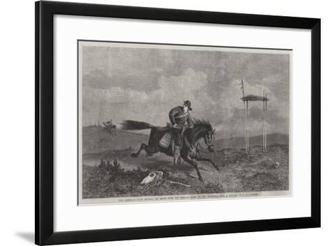 The American Pony Express, En Route from the Missouri River to San Francisco-George Henry Andrews-Framed Art Print