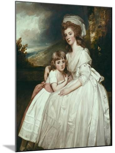 Portrait of Mrs Richard Pryce Corbet and Her Daughter, 1780-George Romney-Mounted Giclee Print