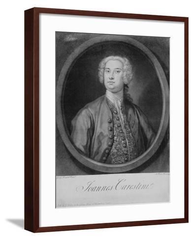 Giovanni Carestini (C.1704-C.1760), 1735-George Knapton-Framed Art Print