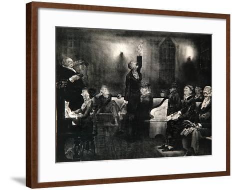Prayer Meeting, 1916-George Wesley Bellows-Framed Art Print