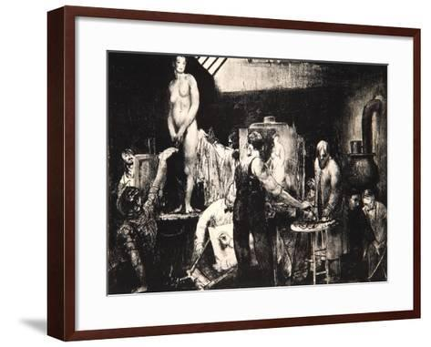The Life Class, 1917-George Wesley Bellows-Framed Art Print