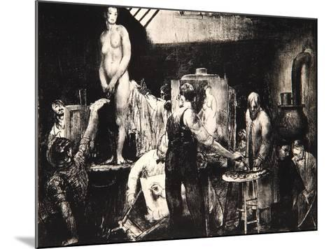 The Life Class, 1917-George Wesley Bellows-Mounted Giclee Print