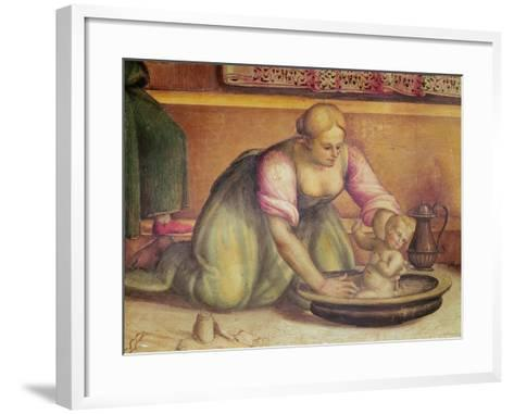 Detail of the Birth of St. John the Baptist, 1519-Giannicola di Paolo-Framed Art Print
