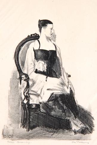 Elsie, Figure, 1921-George Wesley Bellows-Stretched Canvas Print