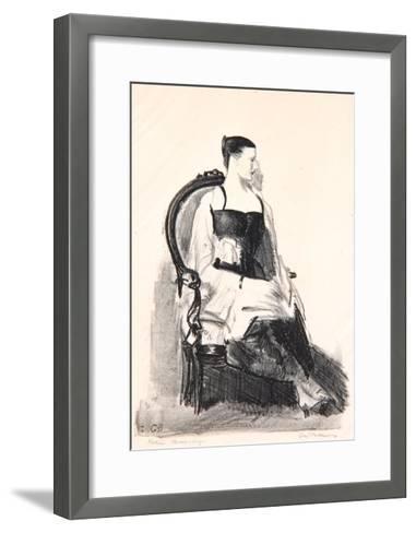 Elsie, Figure, 1921-George Wesley Bellows-Framed Art Print