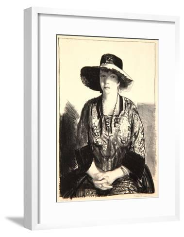 The Black Hat, 1921-George Wesley Bellows-Framed Art Print