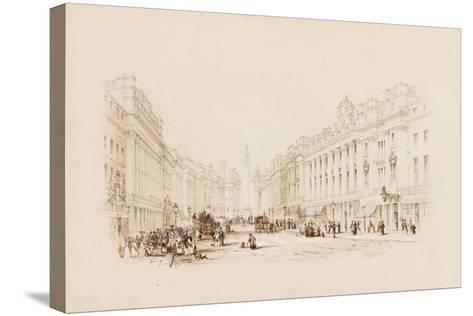 Grey Street, Newcastle-George Finlay Robinson-Stretched Canvas Print