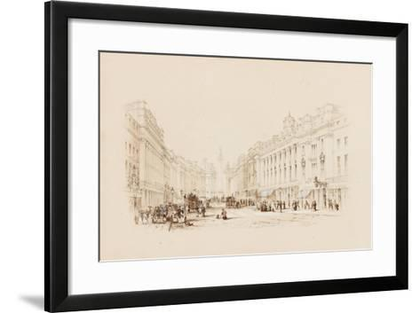 Grey Street, Newcastle-George Finlay Robinson-Framed Art Print