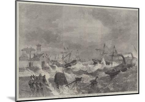 The Recent Gale, Wrecks at Kingstown, Bay of Dublin-George Henry Andrews-Mounted Giclee Print