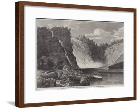 The Falls of Montmorency, Near Quebec-George Henry Andrews-Framed Art Print