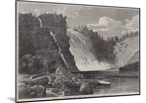 The Falls of Montmorency, Near Quebec-George Henry Andrews-Mounted Giclee Print