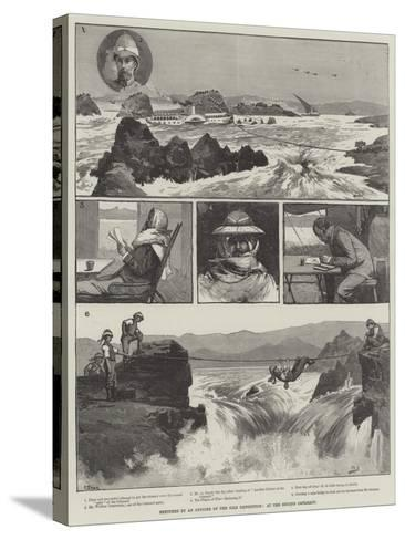 Sketches by an Officer of the Nile Expedition, at the Second Cataract-George L. Seymour-Stretched Canvas Print