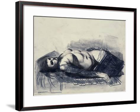 Odalisque-George Wesley Bellows-Framed Art Print