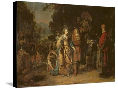 Isaac and Rebecca by the Well of Lahai-Roi-Gerbrandt Van Den Eeckhout-Stretched Canvas Print